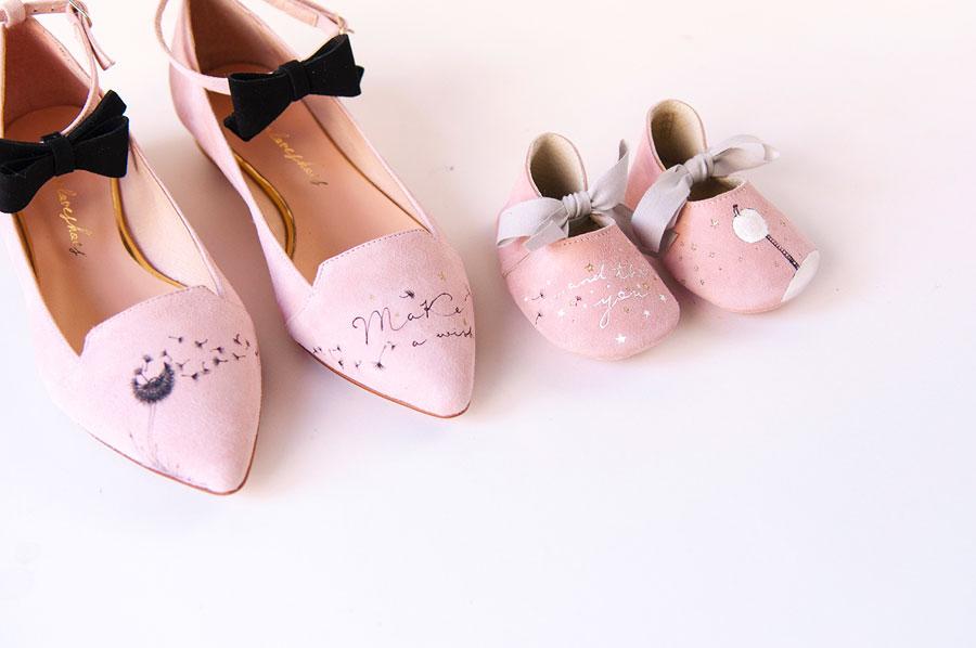 Zapatos con mensaje...