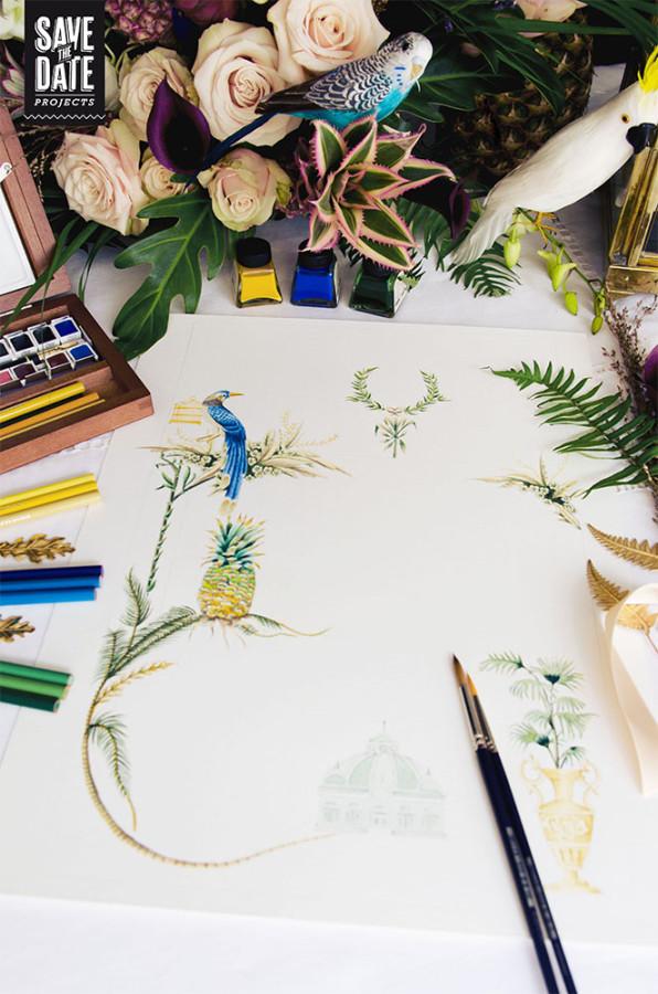 Inspiración tropical para bodas